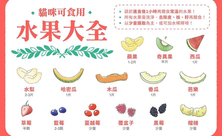 【貓侍知識文】貓食用水果大全