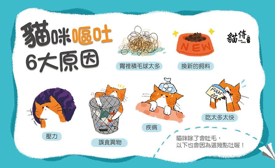 【貓侍】貓咪嘔吐原因
