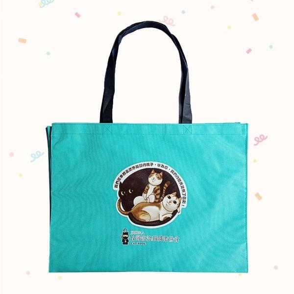 【台灣流浪貓關懷協會】手繪流浪貓牛津布提袋(綠色)
