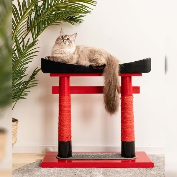 日本鳥居貓爬架(貓抓板/貓抓柱)