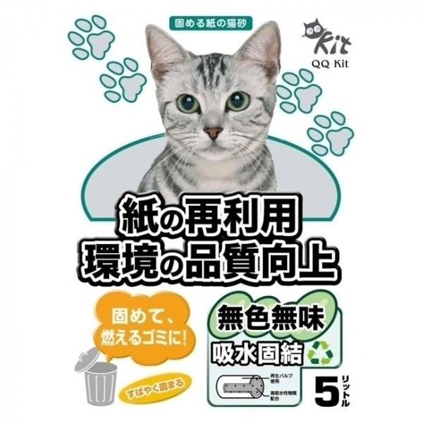 【QQKIT】日本凝結紙貓砂/紙砂5L (無味)