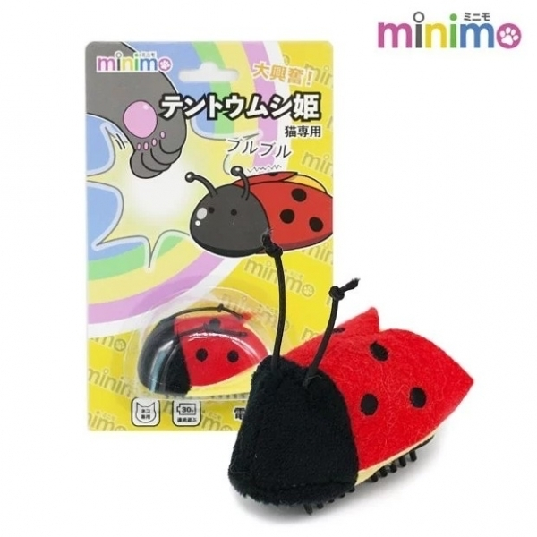 【minimo】震動蟲蟲貓玩具-瓢蟲公主