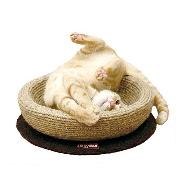 【CattyMan】貓抓抓遊戲麻繩圓床