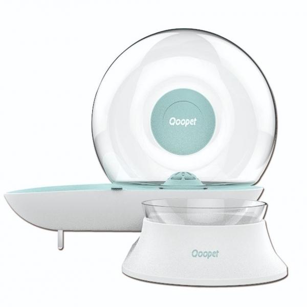 【Qoopet】逆滲透飲水餵食器/水碗/食碗(藍)
