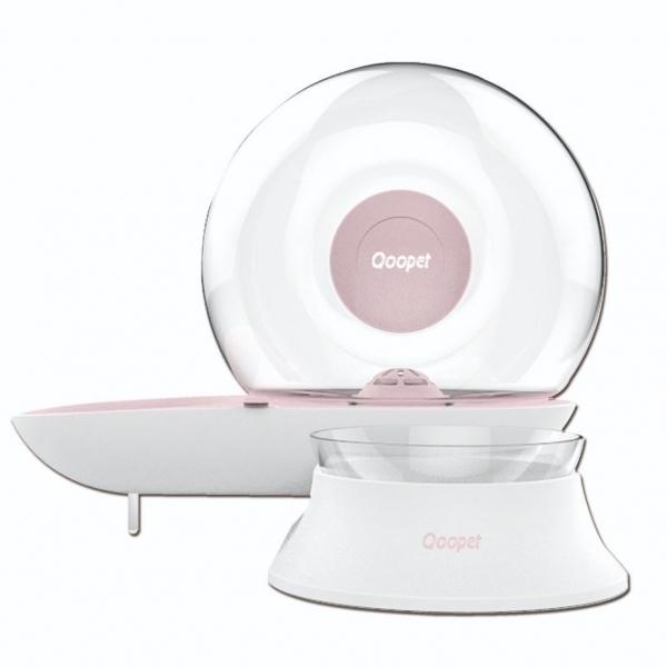 【Qoopet】逆滲透飲水餵食器/水碗/食碗(粉)