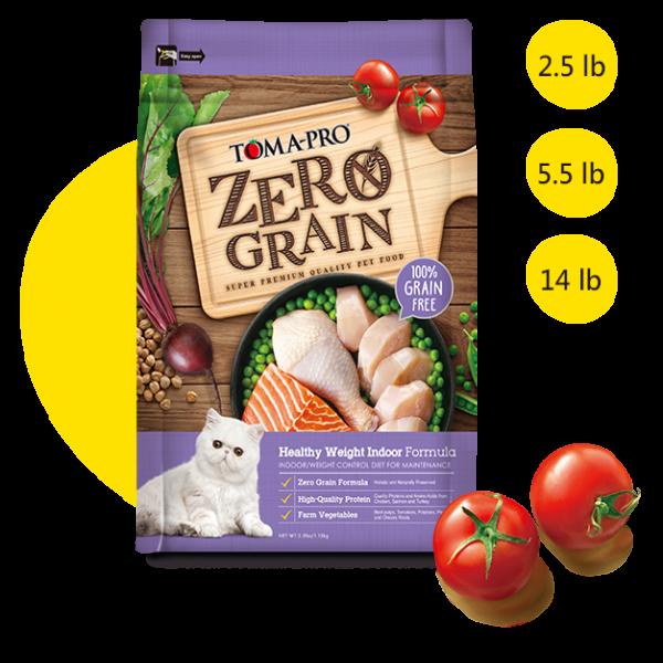 【TOMA-PRO優格】天然零穀食譜-0%零穀-室內貓體重管理(雞肉配方)成貓