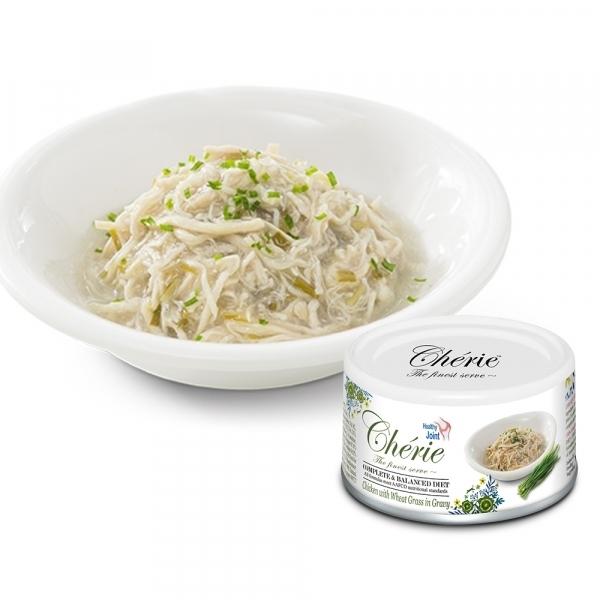 【法麗Cherie】全營養主食罐80g-關節保健-雞肉佐小麥草