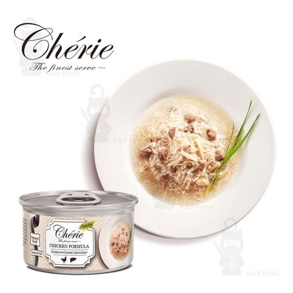 【法麗Cherie】微湯汁系列80g-天然嫩雞佐雞肝