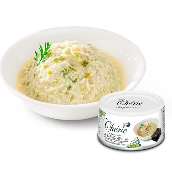 【法麗Cherie】全營養主食罐80g-腸胃保健-雞肉佐海苔