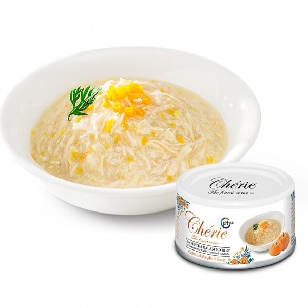 【法麗Cherie】全營養主食罐80g-泌尿道保健-雞肉佐南瓜