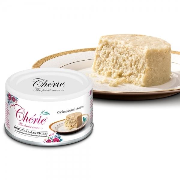 【法麗Cherie】全營養主食罐80g-幼貓-天然雞肉慕斯