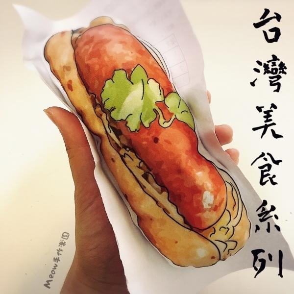 【Meow手作樂園】台灣美食手作系列-貓草玩具(大腸包小腸)