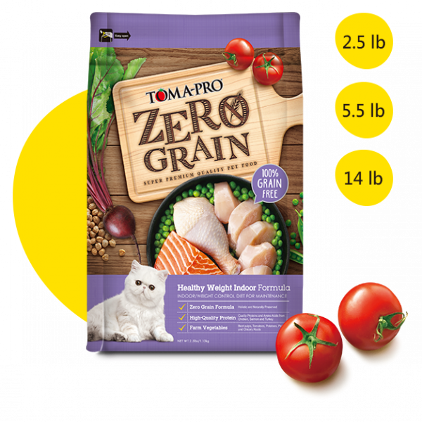 【TOMA-PRO優格】天然0%零穀食譜-雞肉配方(室內貓體重管理)成貓