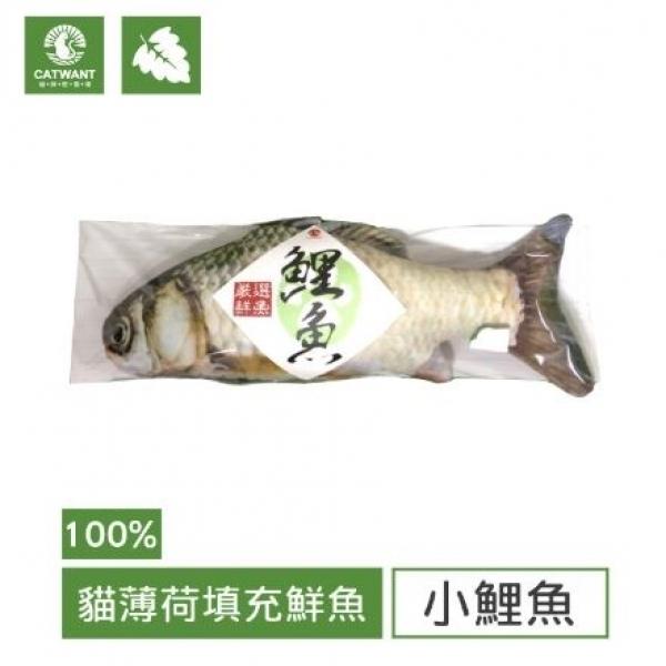 【貓咪旺農場】100%貓薄荷填充玩具-小鯉魚