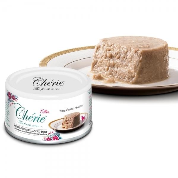 【法麗Cherie】全營養主食罐80g-幼貓-天然鮪魚慕斯