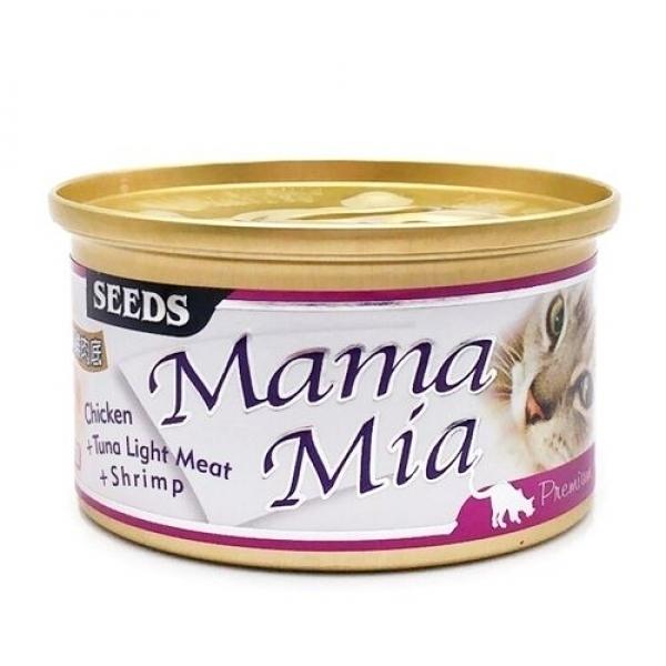 【MamaMia】貓餐罐85g-雞肉+白身鮪魚+蝦肉