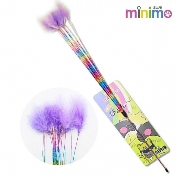 【minimo】貓戰隊逗貓棒-紫戰士(短柄滿天星)