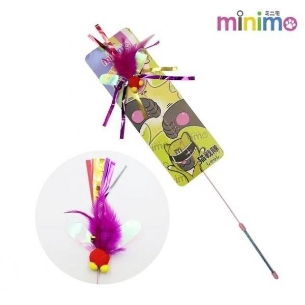 【minimo】貓戰隊逗貓棒-黃戰士(短柄飛蟲)