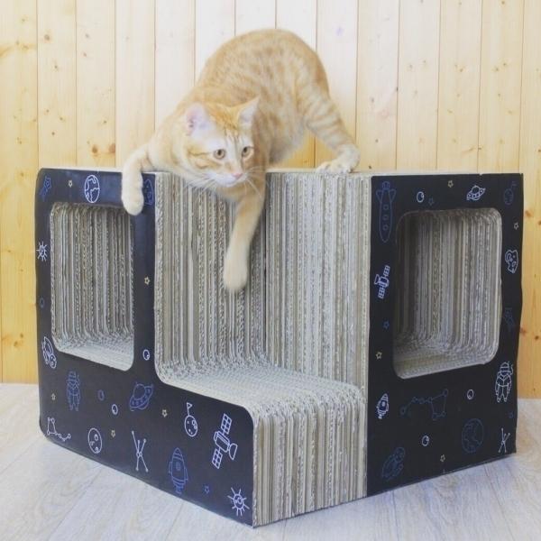 【胖貓嚴選】宇宙隧道貓抓屋(貓抓板)