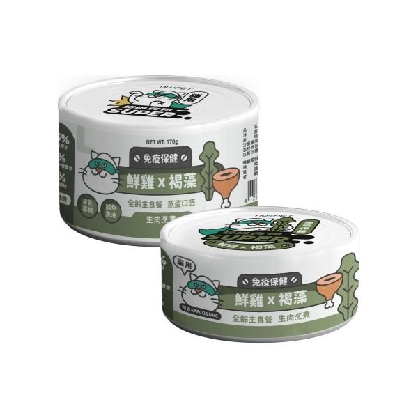 【陪心寵糧】Super小白主食罐80g-鮮雞X褐藻(12/24入)
