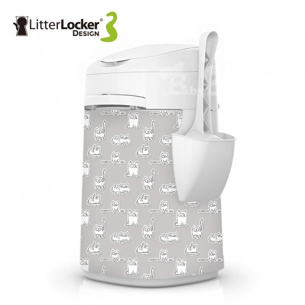 【LitterLocker】Design 第三代貓咪鎖便桶(貓貼紙款)