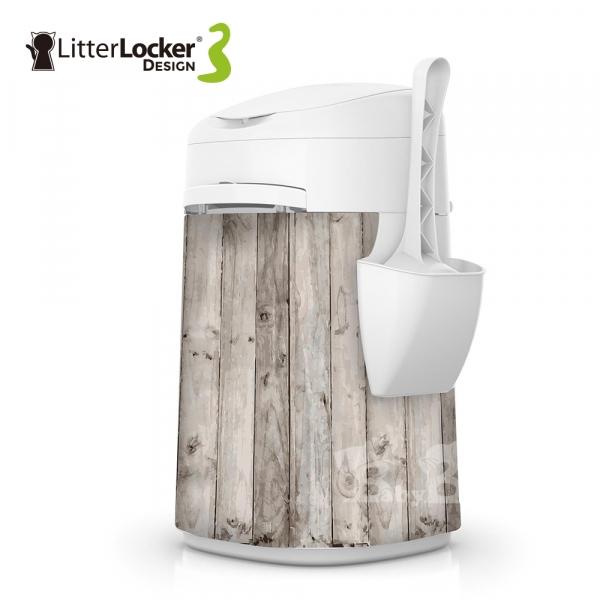 【LitterLocker】Design 第三代貓咪鎖便桶(木紋款)