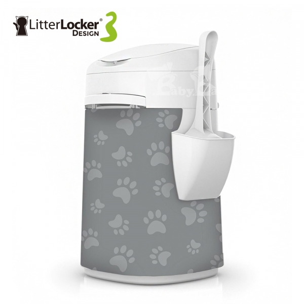 【LitterLocker】Design 第三代貓咪鎖便桶(貓腳印款)