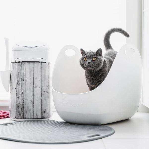 【LitterLocker】LitterBox 360°主子貓砂籃-高邊加大型貓砂盆(含專用砂鏟1個)