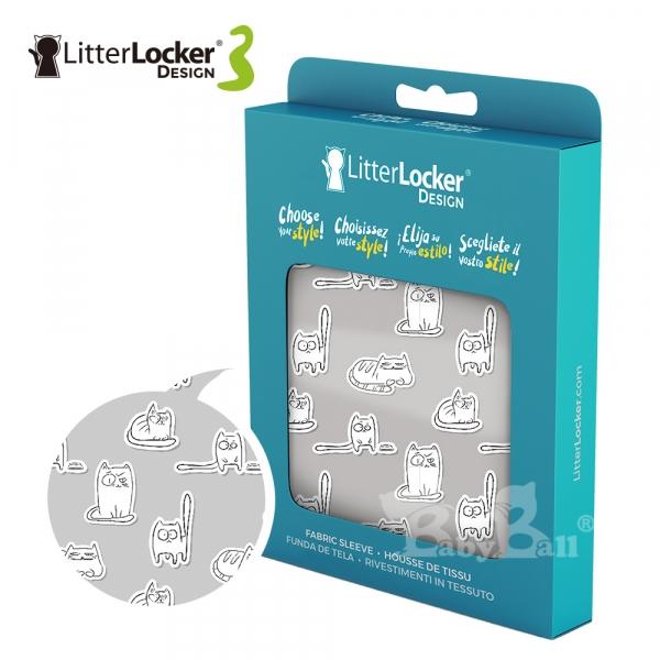 【LitterLocker】Design 第三代貓咪鎖便桶衣(貓腳印款)