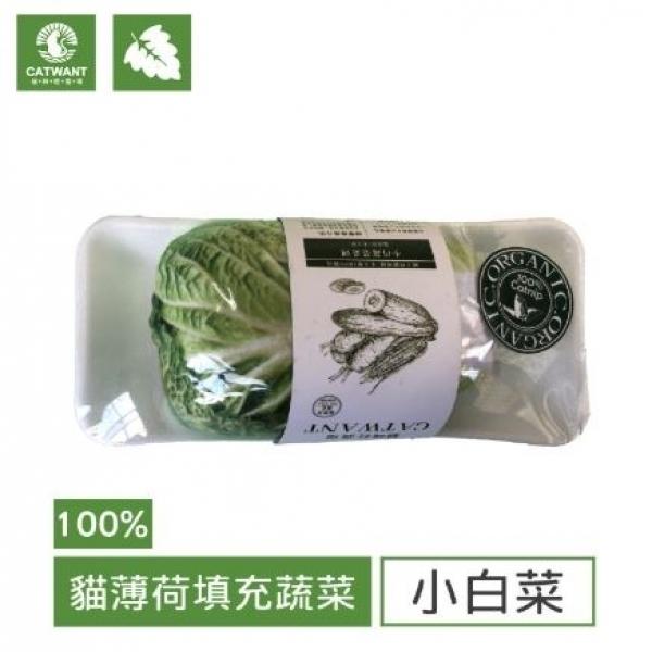 【貓咪旺農場】100%貓薄荷填充玩具-小白菜