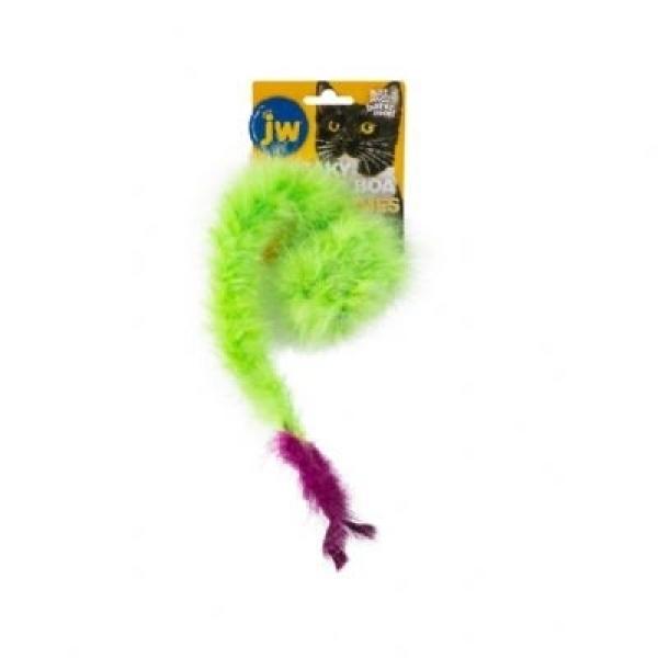 【美國JW】長尾綠毛嗶嗶貓草玩具