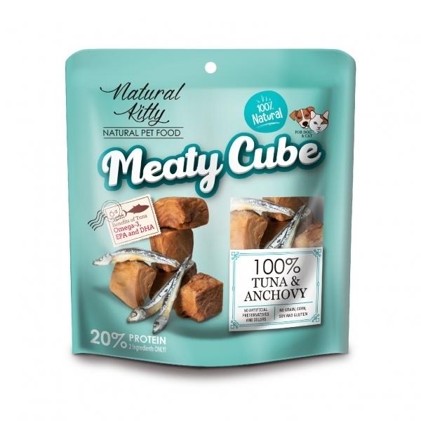 【Natural Kitty自然小貓】100%天然鮮肉塊-鮪魚鯷魚雙拼60g